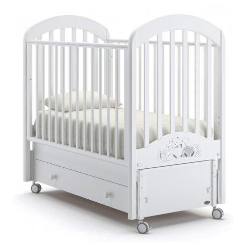 Кроватка Nuovita Grano (качалка), продольный маятник белый кроватка briciola 9 маятник продольный автоматический темная