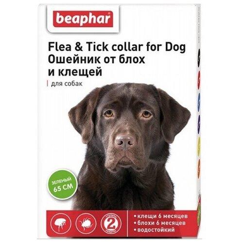 Beaphar ошейник от блох и клещей Flea & Tick для собак, 65 см, зеленый beaphar ошейник от блох и клещей flea
