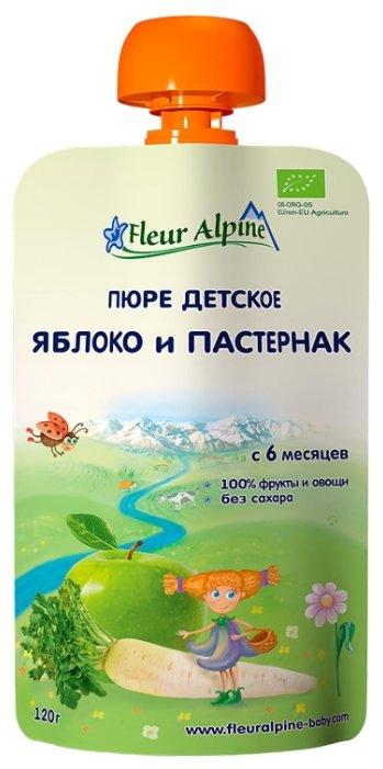 Пюре Fleur Alpine яблоко и пастернак (с 6 месяцев) 120 г, 1 шт