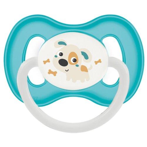 Купить Пустышка силиконовая анатомическая Canpol Babies Bunny & company 6-18 м, бирюзовый, Пустышки и аксессуары