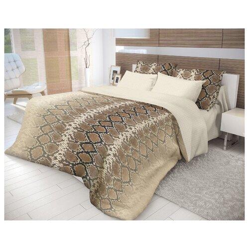 Постельное белье 2-спальное Волшебная ночь Mamba 717458 ранфорс бежевый/коричневыйКомплекты<br>