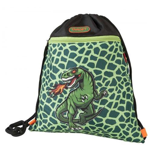 Купить Target Сумка для детской сменной обуви Динозавр (17971) черный/зеленый, Мешки для обуви и формы