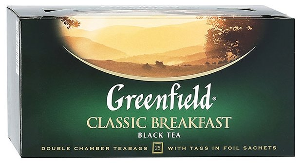 Чай черный Greenfield Classic Breakfast в пакетиках
