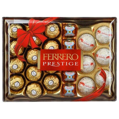 Набор конфет Ferrero Rocher Prestige: Ferrero Rocher, Raffaello, Ferrero Kusschen, 254г фото