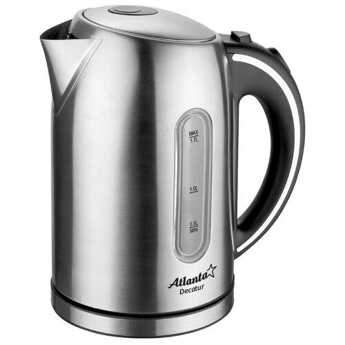 Чайник Atlanta ATH-2425, серебристый кухонные весы atlanta ath 6217 серебристый