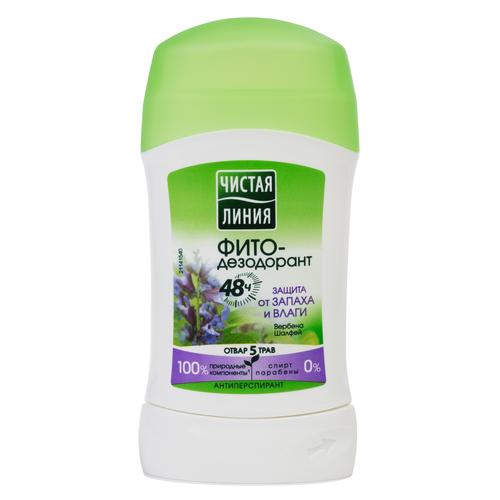 Фито-дезодорант атиперспирант стик Чистая линия Защита от запаха и влаги, 40 мл дезодорант чистая линия защита от запаха и влаги 150мл аэрозоль