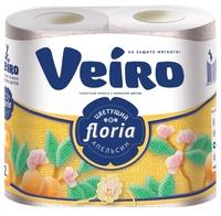 Туалетная бумага Veiro Floria Цветущий апельсин двухслойная 4 шт.