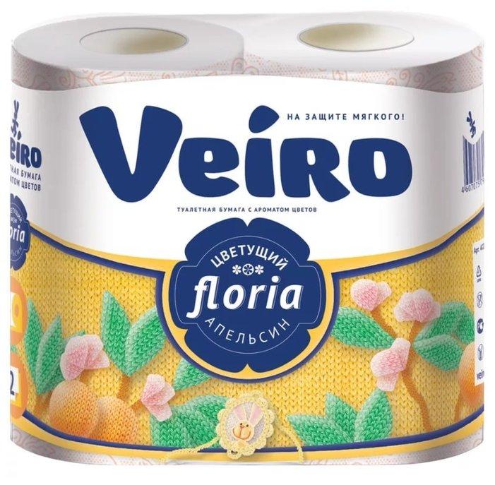 Туалетная бумага Veiro Floria Цветущий апельсин двухслойная, 4 рул.