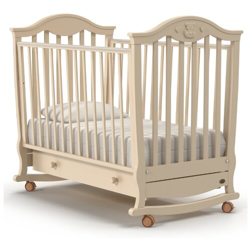 Купить Кроватка Nuovita Sorriso (колесо, качалка) слоновая кость, Кроватки