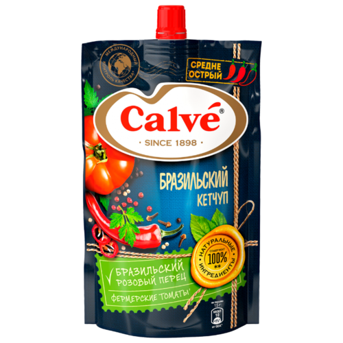 Кетчуп Calve Бразильский 350 г яйцерезка calve