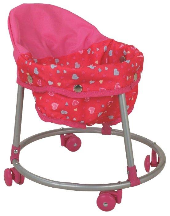 Ходунки Buggy Boom Loona 8779-3 розовый с сердечками