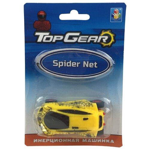Легковой автомобиль 1 TOY Top Gear Spider Net (Т10321) 8 см желтый