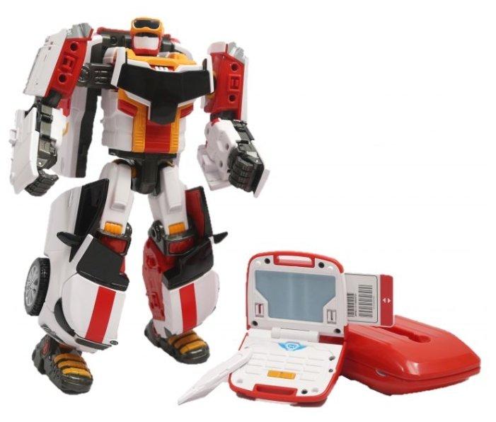 Интерактивная игрушка робот-трансформер YOUNG TOYS Tobot V Почтальон Карго со звуком 301048