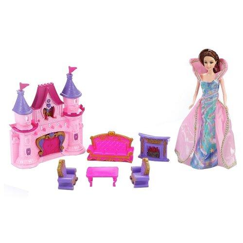 Купить Dolly Toy кукольный домик Сказочная история DOL0803-004, розовый/фиолетовый, Кукольные домики