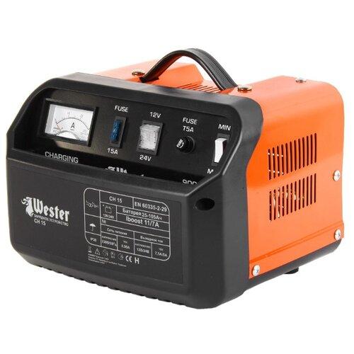 Зарядное устройство Wester CH15 черный / оранжевый
