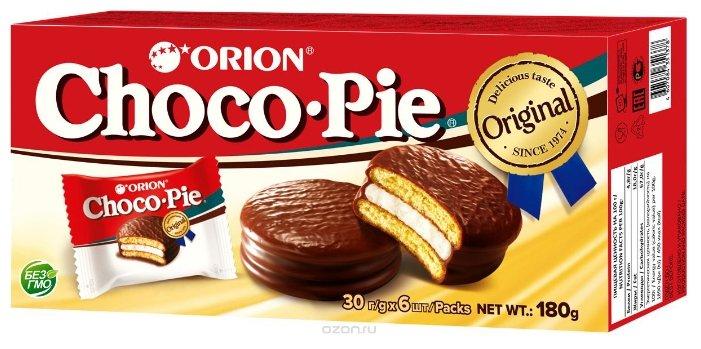 Печенье orion choco pie 6х30г. 180г.