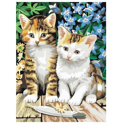 Купить Белоснежка Картина по номерам Котята 30х40 см (231-CE), Картины по номерам и контурам