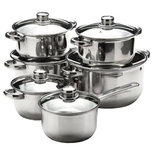 Набор посуды MAYER & BOCH 25751/25752 12 пр. серебристый