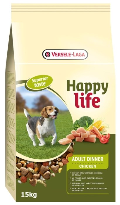 Корм для собак Happy life Adult Dinner with Chicken