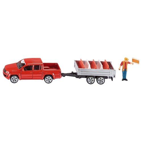 Купить Внедорожник Siku Пикап с прицепом (3543) 1:55 16.6 см красный, Машинки и техника