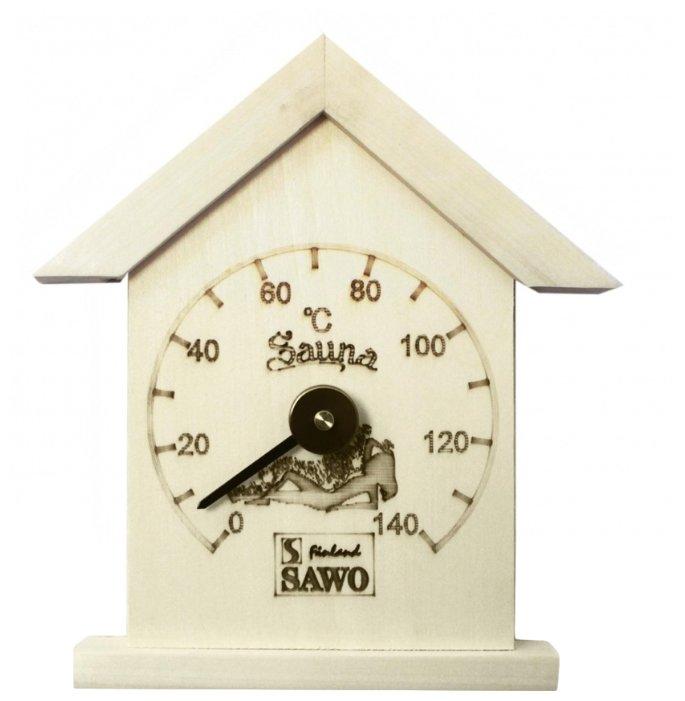 Термометр для сауны Sawo 115-ТA в форме домика, материал: осина, Sawo (Саво)