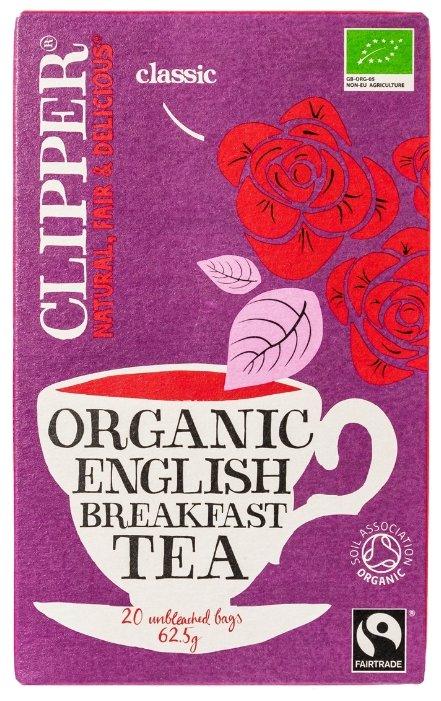 Чай черный Clipper Organic English breakfast tea в пакетиках