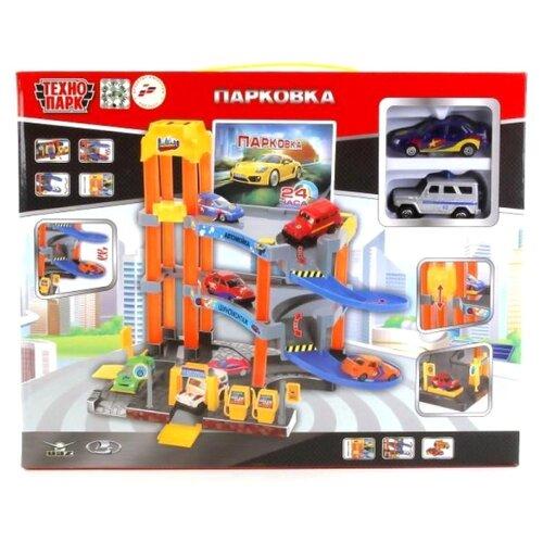 ТЕХНОПАРК Парковка P7688A-3R (24) желтый/синий/оранжевый/серыйДетские парковки и гаражи<br>