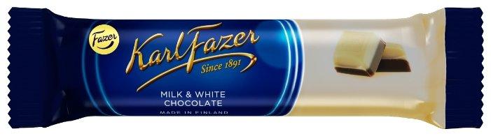 Батончик Fazer Karl Fazer из белого и молочного шоколада, 38 г