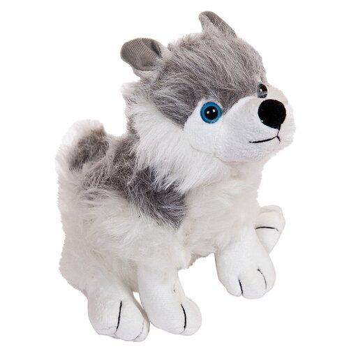 Мягкая игрушка Eatoy Собака серая с белым 12 см