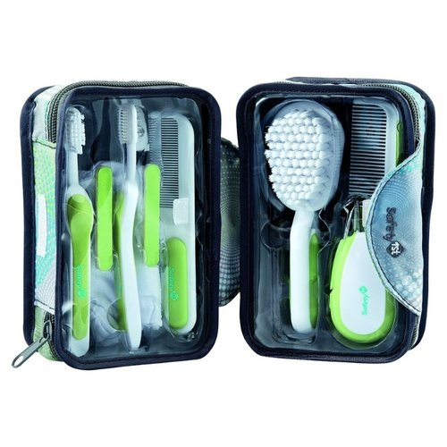 Safety 1st Гигиенический набор (8 предметов) белый/салатовый/серыйМаникюрные принадлежности<br>