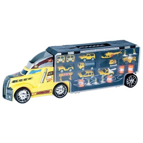 Набор техники Junfa toys из девяти моделей (LA-015A) желтый/серый, Машинки и техника  - купить со скидкой