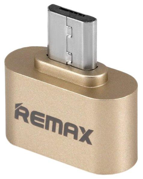 Переходник Remax USB 2.0 - microUSB (RA-OTG) серебристый