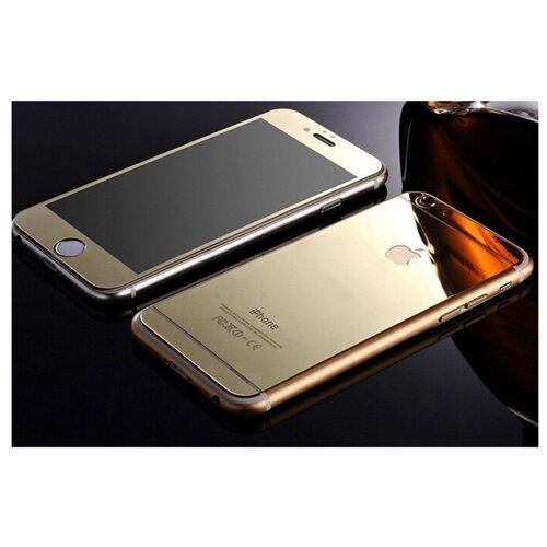 Защитное стекло CaseGuru зеркальное Front & Back для Apple iPhone 6/6S Logo gold защитное стекло caseguru для apple iphone 6 6s silver logo