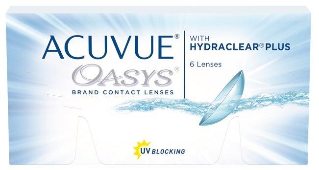Контактные линзы Acuvue Oasys with Hydraclear Plus (6 линз)
