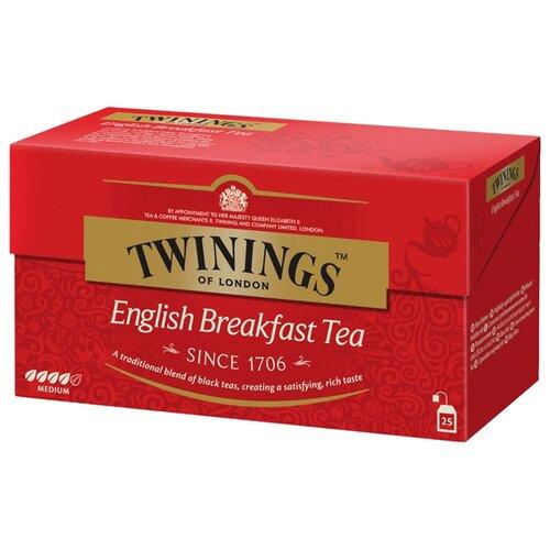 Фото - Чай черный Twinings English breakfast в пакетиках , 25 шт. (1 уп.) чай связанный чханг е шанг гуй цветок османтуса в уп 5 шт