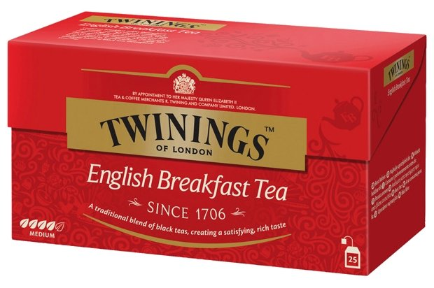 Чай Twinings English Breakfast 25 пакетиков,картон