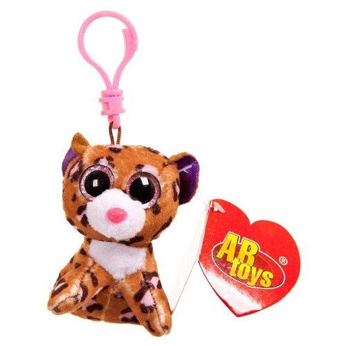 Игрушка-брелок ABtoys Леопард коричневый 8 см
