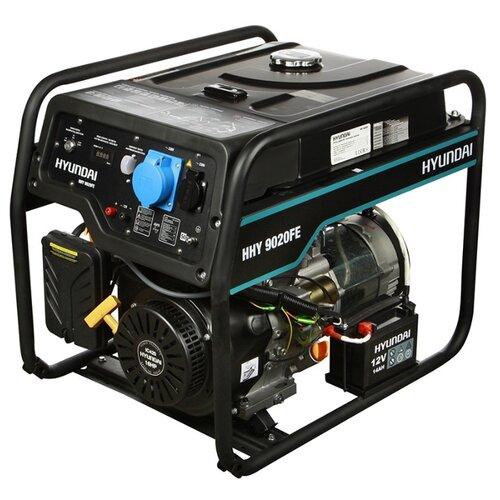 Бензиновый генератор Hyundai HHY 9020FE (6000 Вт) бензиновый генератор hyundai hhy 7020fe 5000 вт