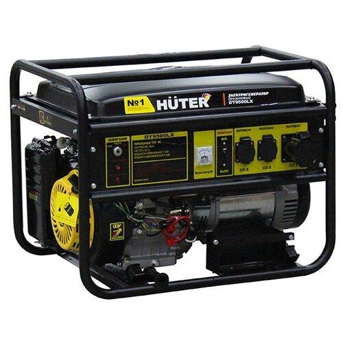 Бензиновый генератор Huter DY9500LX (7500 Вт) бензиновый генератор huter dy6500lx 5000 вт