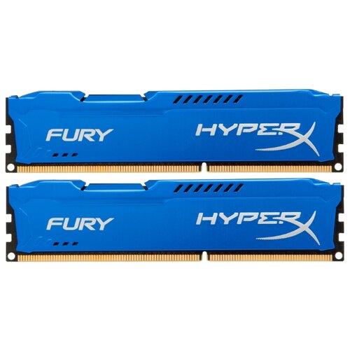 Фото - Оперативная память HyperX Fury DDR3 1600 (PC 12800) DIMM 240 pin, 8 GB 2 шт. 1.5 В, CL 10, HX316C10FK2/16 оперативная память corsair xms ddr3 1600 pc 12800 dimm 240 pin 8 гб 1 шт 1 5 в cl 11 cmx8gx3m1a1600c11