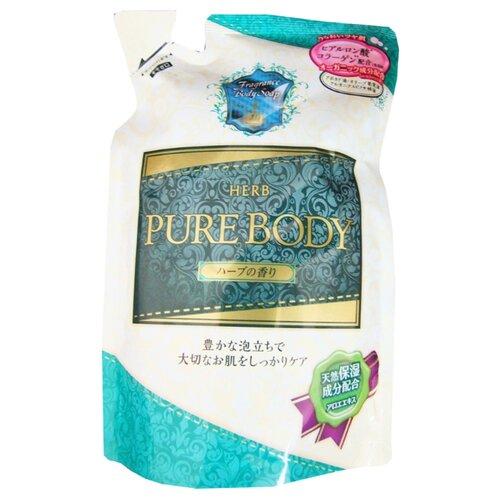Гель для душа Mitsuei Pure Body с гиалуроновой кислотой, коллагеном и экстрактом алоэ с ароматом луговых трав 400 мл сменный блокДля душа<br>