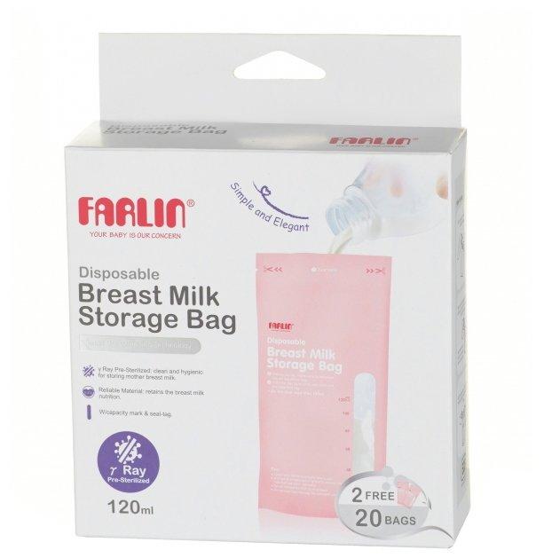 Farlin Пакеты для хранения грудного молока 120 мл