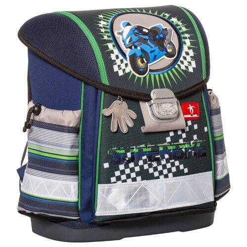 Купить Belmil Ранец Classy Super Bike (403-13/417), темно-синий/зеленый/серый, Рюкзаки, ранцы