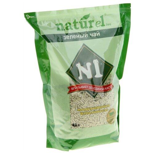 Фото - Комкующийся наполнитель N1 Naturel Зеленый чай 4.5 л комкующийся наполнитель n1 naturel зеленый чай 17 5 л