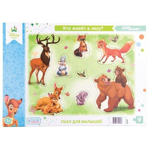 Купить Рамка-вкладыш Step puzzle Disney Кто живёт в лесу? (80435), 9 дет., Пазлы