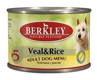 Корм для собак Berkley Паштет для собак #5 Телятина с рисом