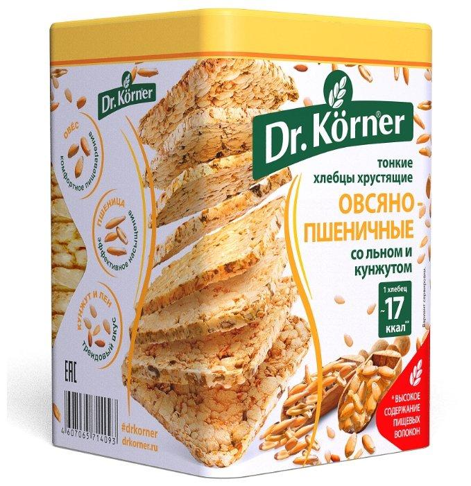 Хлебцы тонкие хрустящие овсяно-пшеничные Dr. Körner со смесью семян льна и кунжута, 100 г