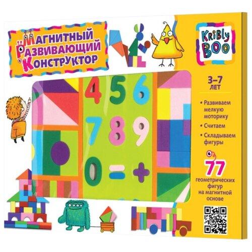 Купить Kribly Boo Магнитный геометрический конструктор 77 элементов (47070), Мозаика