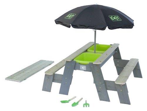 Песочница-столик Exit Toys Акцент с зонтом и 2 скамейками (52.05.10.45)