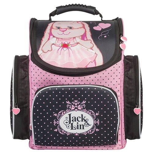 Купить Jack and Lin Ранец Зайка Лин в платье (JL-102017-4) черный/розовый, Рюкзаки, ранцы